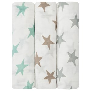 Image of Aden + Anais 3-Pack Milky Way Silky Soft Swaddles one size (516920)