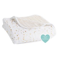 Aden + Anais Classic Dream Blanket 3 Pack Metallic Gold Metallic Gold
