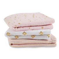 Aden + Anais Musy 3 Pack Metallic Primrose And Gold Metallic Primrose And Gold