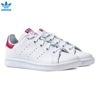 adidas Originals White and Pink Stan Smith White