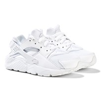NIKE White Huarache Run Trainers WHITE/WHITE-PURE PLATINUM