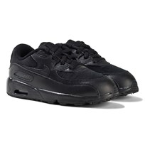 NIKE All Black Air Max 90 Mesh Trainers Black/Black