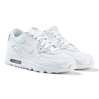NIKE All White Air Max 90 Mesh Trainers WHITE/WHITE