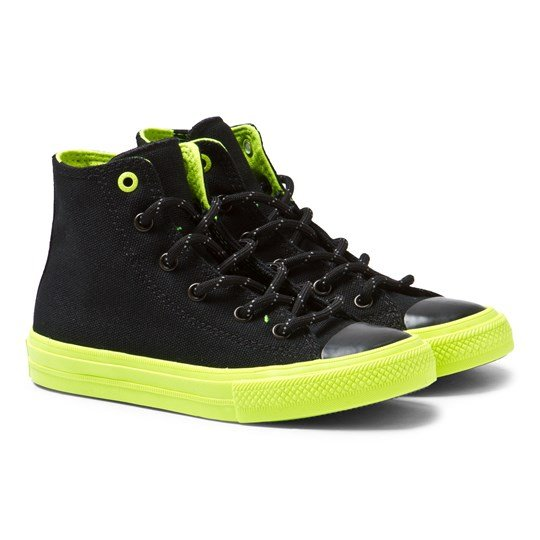 Converse Black Shield Canvas Chuck Taylor All Star II Hi Tops BLK/VOLT/GUM