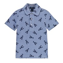 Ralph Lauren Lobster-Print Cotton Mesh Polo BSR Blue XW2H2