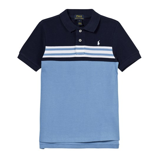 Ralph Lauren Navy and Blue Stripe Polo XW1T4