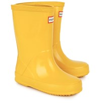 Hunter First Gloss Wellington Boots Yellow