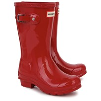Hunter Red Original Gloss Wellington Boots Red
