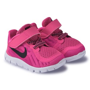 new arrivals e290a 07c1f NIKE. Pink Free 5 Velcro Trainers