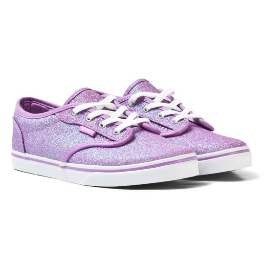 Vans Purple Glitter Atwood Low Lace Trainer (GLITTER) AFRICAN VIOLET/ LILAC SNOW