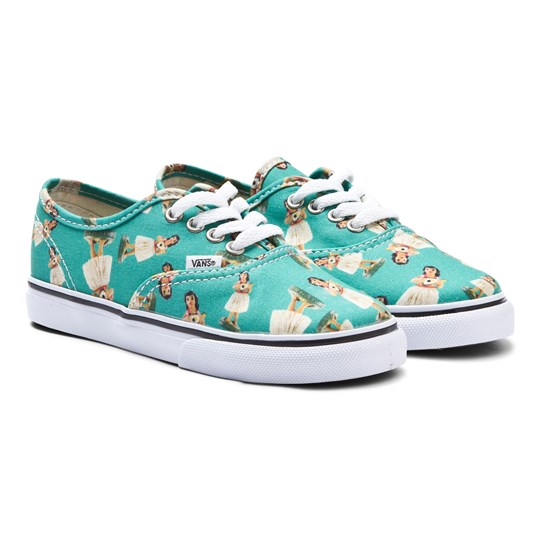 Vans Authentic Hula Girl Print Trainers TURQUOISE/TRUE WHITE