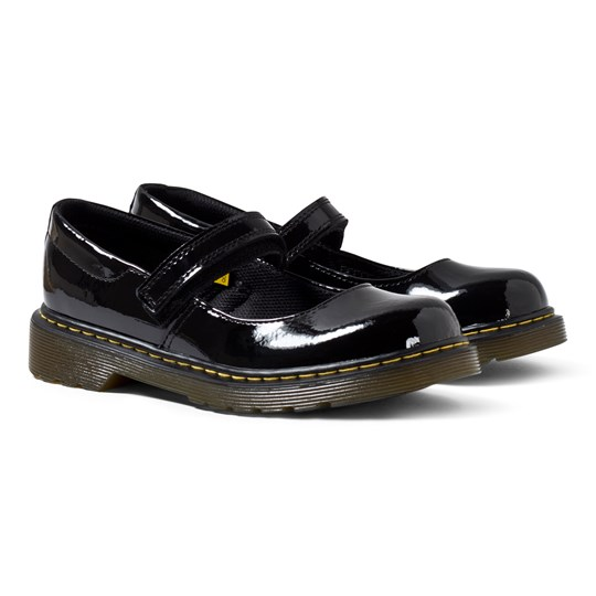 Dr. Martens Maccy Black Patent Mary Janes Black