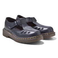 Dr. Martens Navy Ashby Infants Cut Out Bar Sandals Marinblå