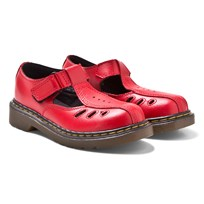 Dr. Martens Red Ashby Infants Cut Out Bar Sandals Red