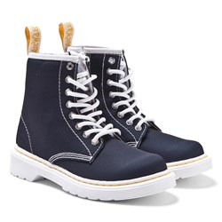 Dr. Martens Navy Brooklee B Canvas Boots