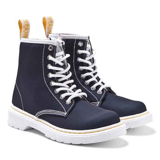 Dr. Martens Navy Brooklee B Canvas Boots Navy