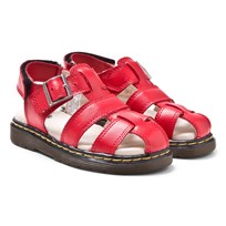 Dr. Martens Red Moby Infants Fisherman Sandals Red
