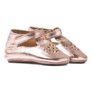 Image of Easy Peasy Rose Pink Metallic Lilly Mary Janes Crib sko 17 (UK 1) (2929403591)