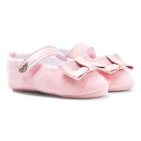 Armani Junior Pink Velvet Mary Janes
