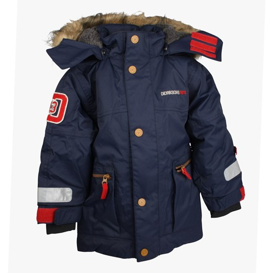 Didriksons Jarvis Kids Jacket Navy Blue