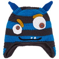 Barts Blue Horned Monster Beanie Blue,Grey