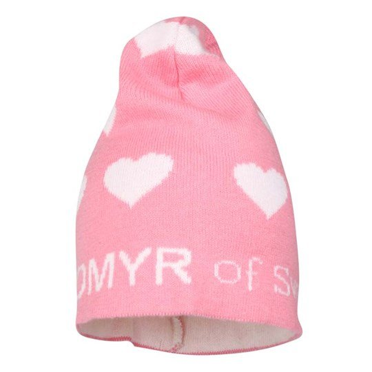 Lundmyr Of Sweden Knitted Hat Pink Heart Pink