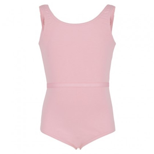 Bloch Pink Round Neck Leotard With Belt Pink