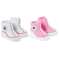 Converse Set of 2 Pink and White Socks