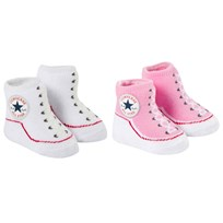 Converse Set of 2 Pink and White Socks Pink