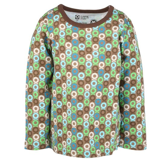 Katvig T-Shirt Green Brown mini Apple BROWN
