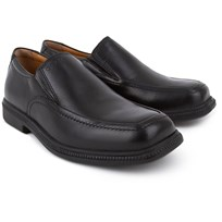 Geox Frederico Black Leather Slip on Loafer Black