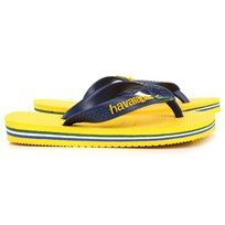 Havaianas Yellow and Navy Flip-Flops Marinblå