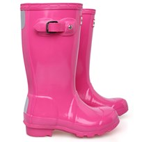 Hunter Original Pink Gloss Wellington Boots Pink