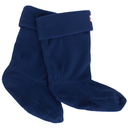 Hunter Navy Fleece Wellington Socks Marinblå