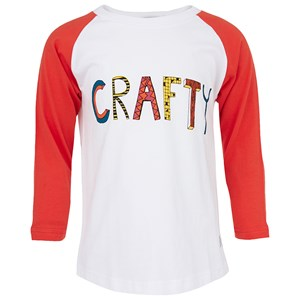 Image of Indikidual Crafty Tee in White and Red 3-6 months (2995685441)
