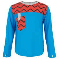 Indikidual Blue Zig Zag Tee Blue,Red