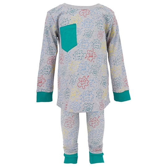 Indikidual Paint Splat Pyjama Set in Grey Green,Grey