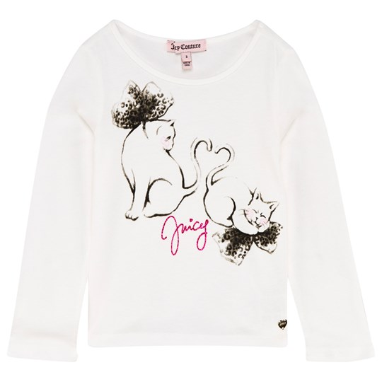 Juicy Couture Cream Cat Print Tee