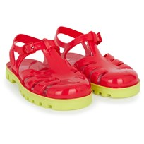 Project Jelly Red and Lime Jelly Sandals Punainen
