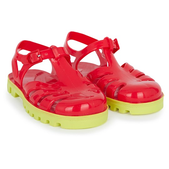 Project Jelly Red and Lime Jelly Sandals Red