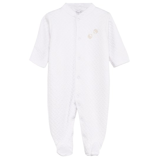 Kissy Kissy White Quilted Babygrow