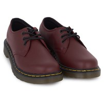 Dr. Martens Red Core Infant 3 Eye Shoes Red