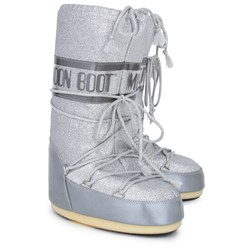 Moon Boot Silver Glitter Delux Moon Boots