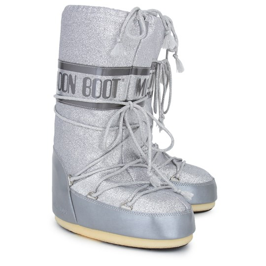 Moon Boot Silver Glitter Delux Moon Boots Silver