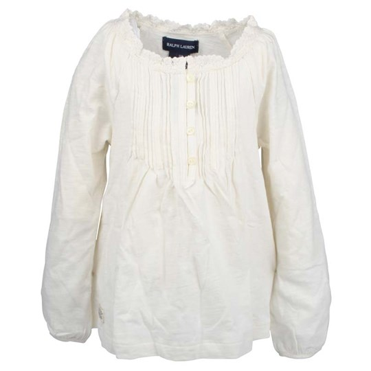 Ralph Lauren LS Boho Top Essex Cream White