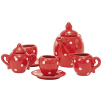 Moulin Roty Red Ceramic Tea Set Red