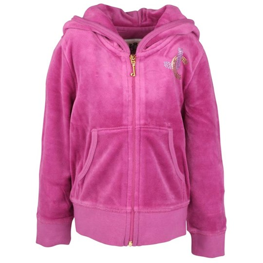 Juicy Couture Basic Hoodie Heart Bougainvill Pink
