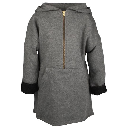 Popupshop Anorak Sweat Hoody Darkgrey Sort