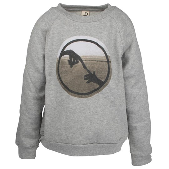 Popupshop Basic Sweatshirt Grey Melange Black