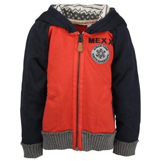 Mexx Kids Boys Sweatshirt Hood Red Red